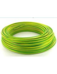 Fil souple vert-jaune,H07Vk4  bobine 100 m