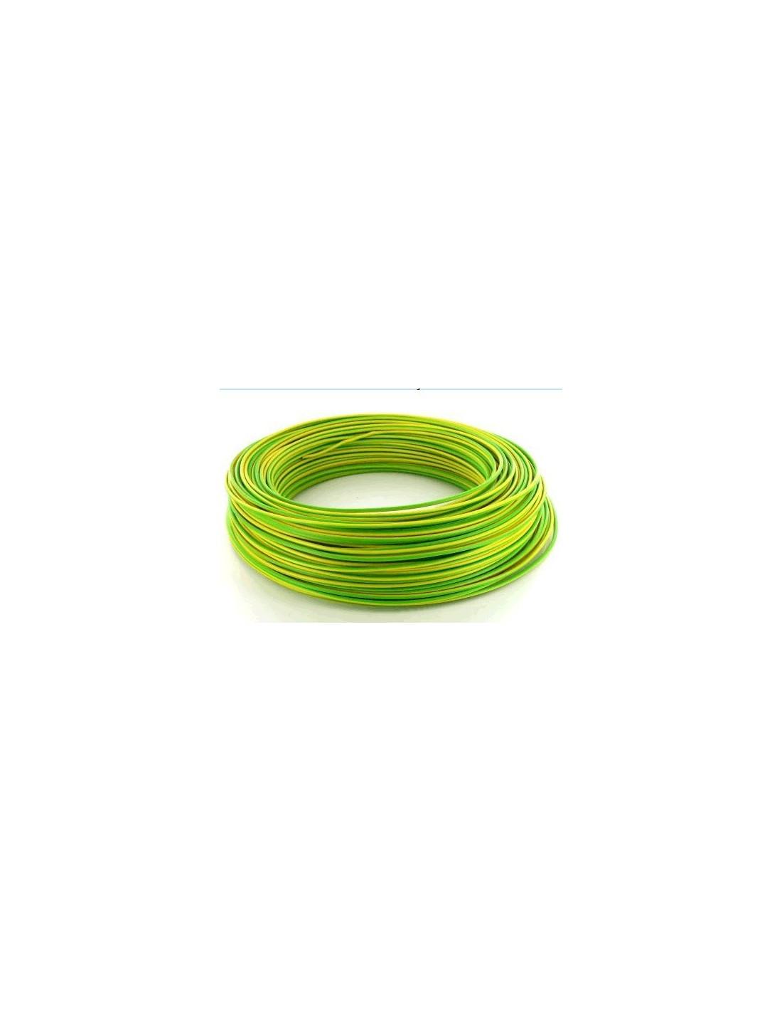 Fil souple vert jaune h07vk4 au m tre - Cable electrique 4mm2 ...