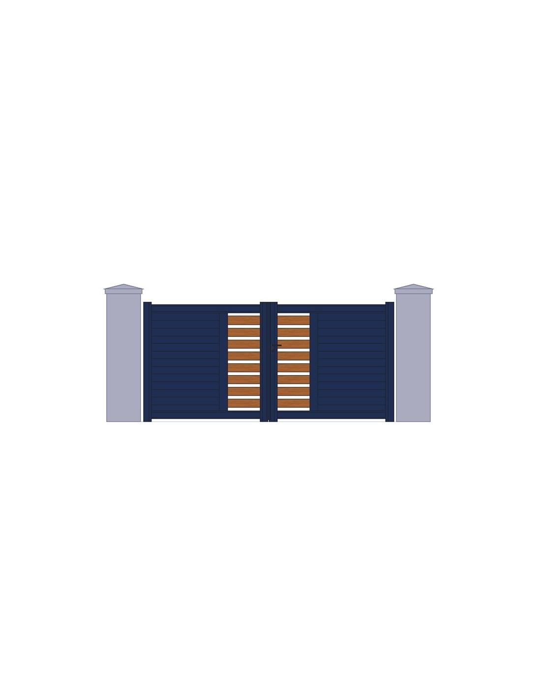 portail alu et red cedar largeur 3m00 a 4m50. Black Bedroom Furniture Sets. Home Design Ideas