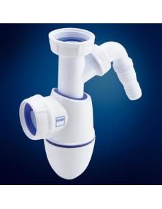 Siphon évier diamètre 40 et prise machine à laver-Nicoll