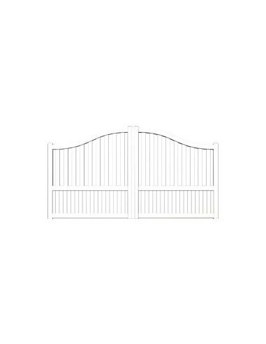 portail aluminium limoges blanc standard semi ajoure chapeau de gendarme largeur x. Black Bedroom Furniture Sets. Home Design Ideas