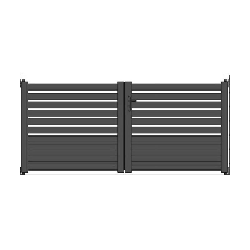 portail aluminium semi ajour horizontal sur mesure. Black Bedroom Furniture Sets. Home Design Ideas