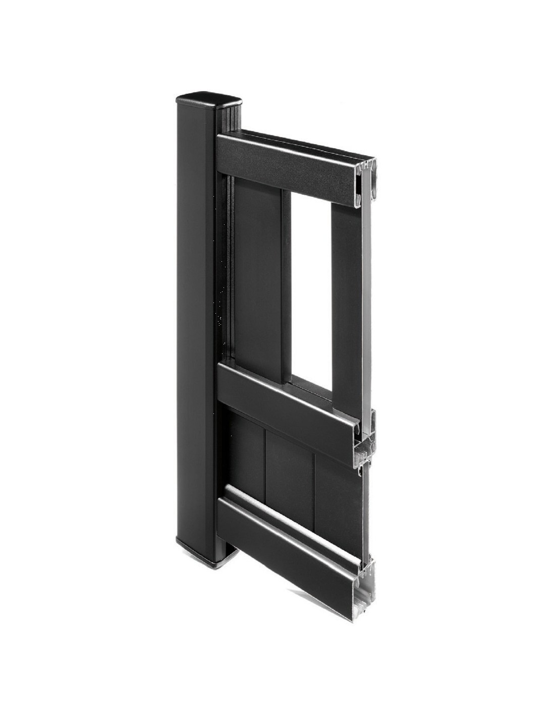 Portillon aluminium droit ajour sur mesure for Portillon aluminium