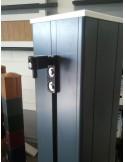 Poteau, pilier de portail aluminium 180x180