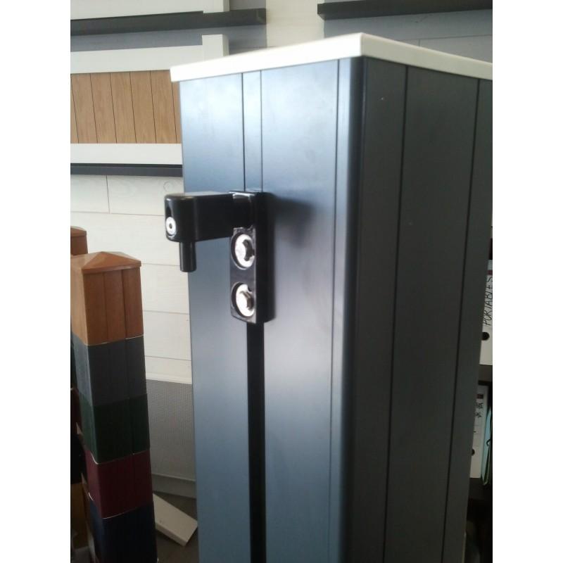 poteau pilier de portail aluminium 198x198. Black Bedroom Furniture Sets. Home Design Ideas
