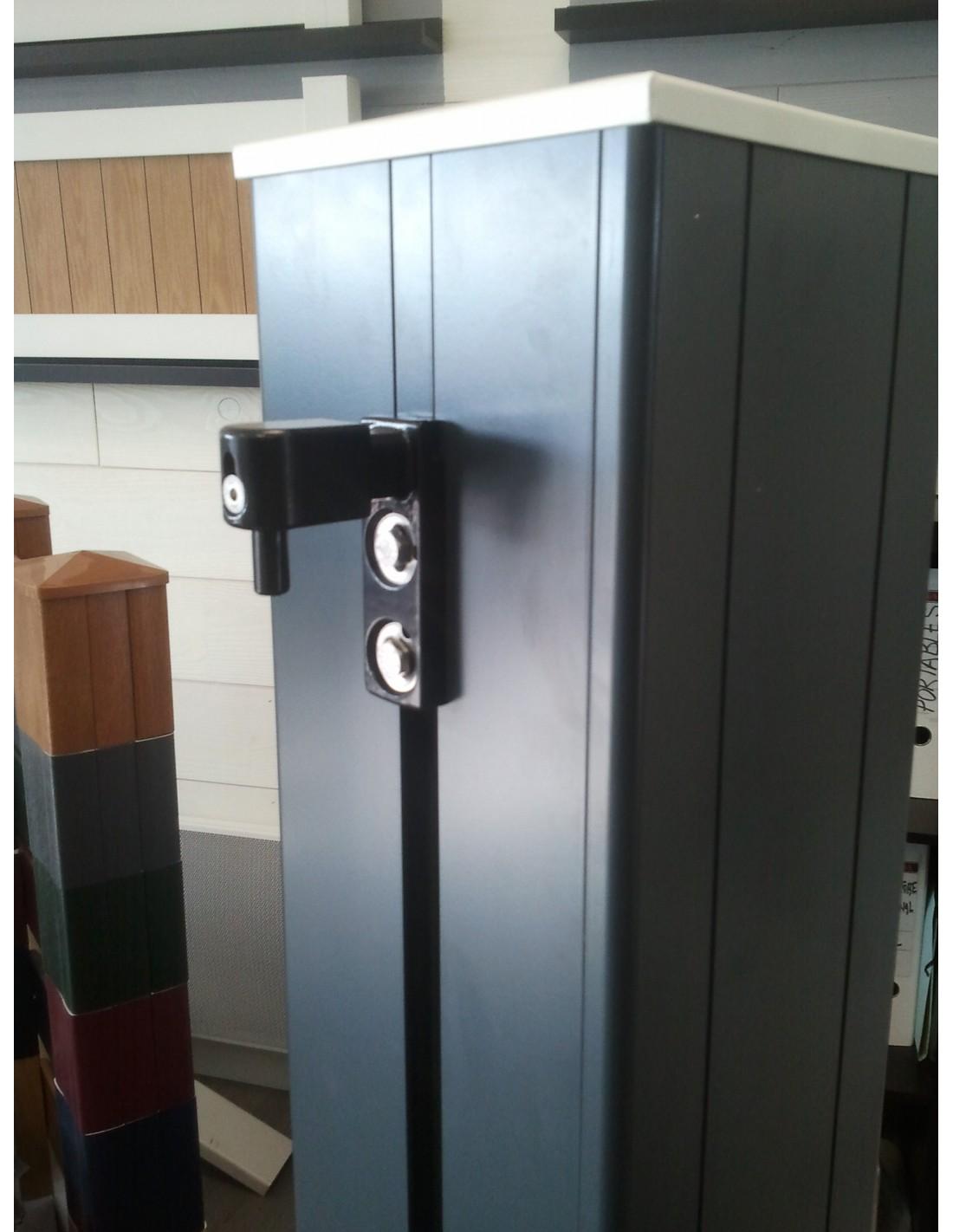 Poteau pilier de portail aluminium 198x198 - Poteau aluminium pour cloture ...