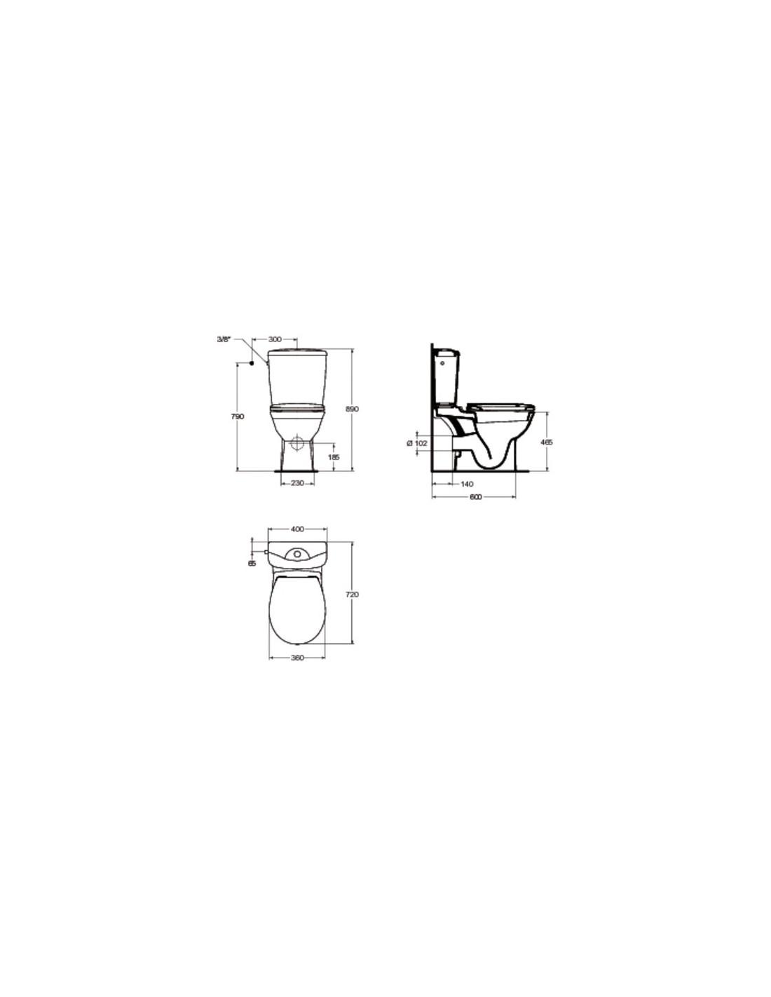 pack wc sur l v complet kheops ideal standard. Black Bedroom Furniture Sets. Home Design Ideas