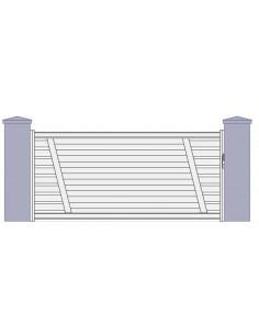 """Portail coulissant aluminium """"albi"""" design contemporain l 3m70 à 5m00"""
