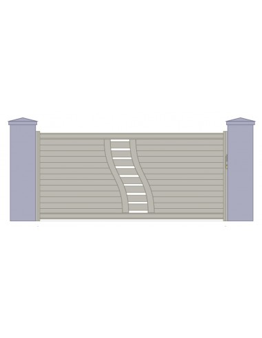 portail coulissant alu design rennes l 3m00 6m00 sur mesure. Black Bedroom Furniture Sets. Home Design Ideas