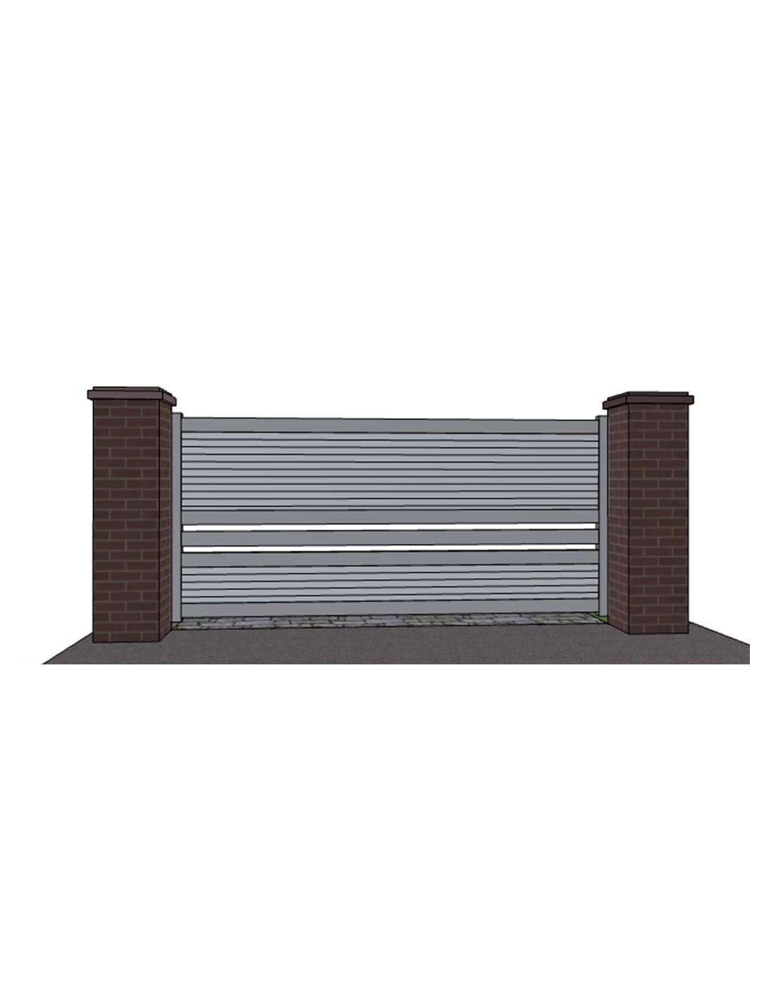 Portail coulissant aluminium design 39 montauban de 3m00 6m00 for Portail coulissant m