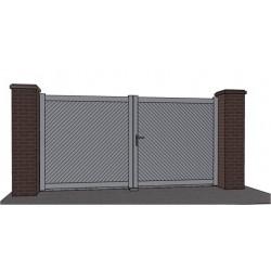 Portail aluminium battant plein droit  premio LARGEUR 3m55 à 4m00