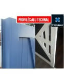 Portail aluminium battant plein droit  LARGEUR 3m55 à 4m00