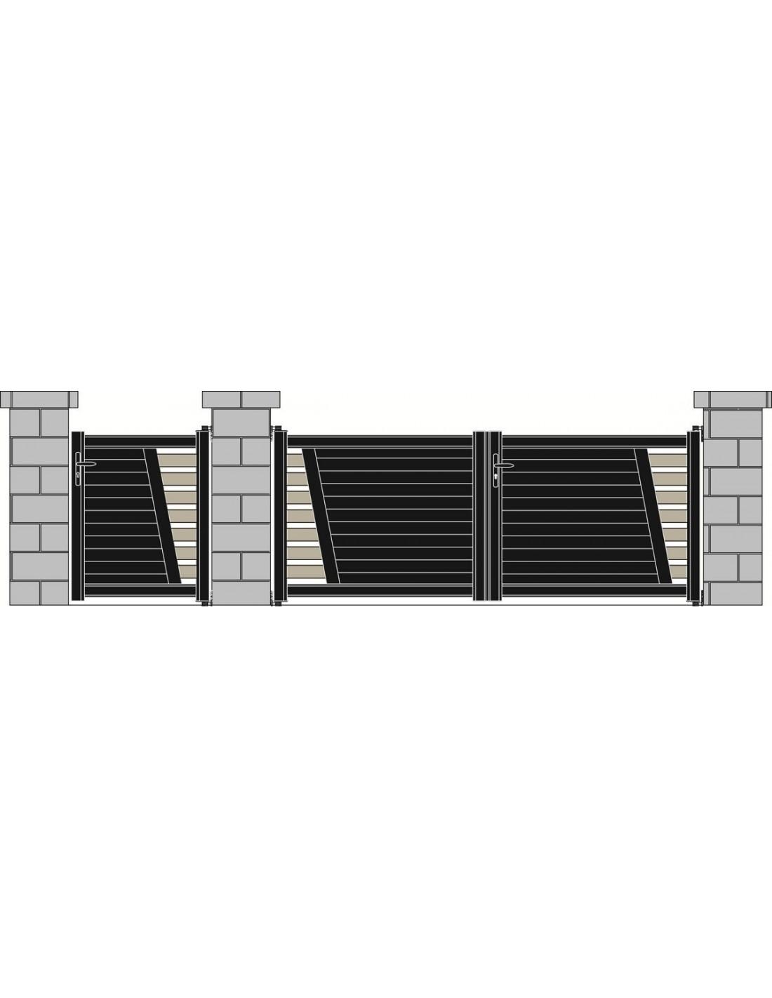 Portail aluminium perigueux design contemporain sur for Portail exterieur sur mesure