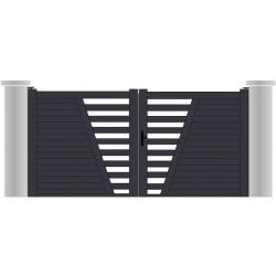 """Portail aluminium """"cap ferret"""" design contemporain sur mesure"""