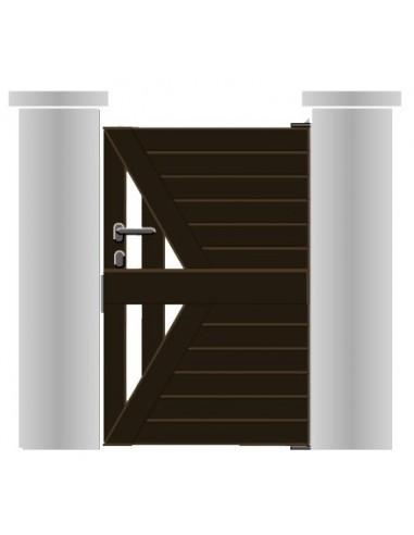 Portillon aluminium droit ajouré