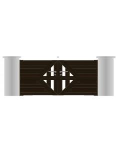"""Portail aluminium """"vannes"""" design contemporain sur mesure"""