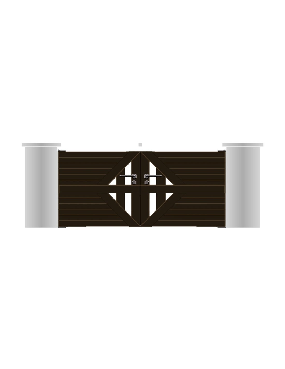 Portail aluminium vannes design contemporain sur mesure for Portail 4m50