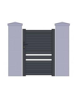 "Portillon aluminium design modèle ""montauban"" sur mesure"