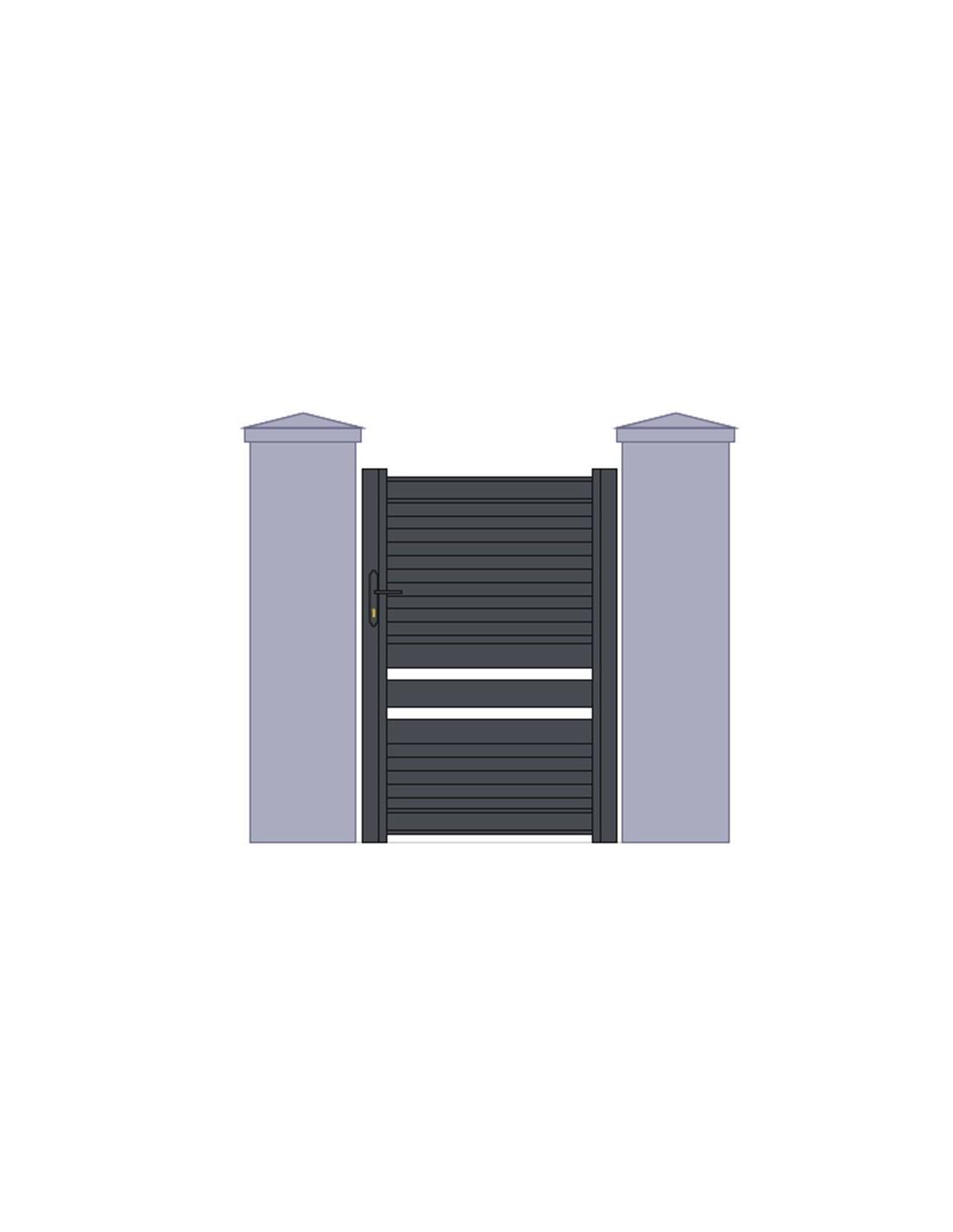 Portillon aluminium design mod le montauban sur mesure for Prix menuiserie alu sur mesure