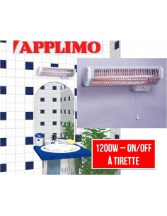 Chauffage infrarouge 1200w salle de bain QUARTZ 2 APPLIMO