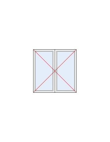 Fen tre pvc blanc 2 vantaux double vitrage 4 20 4 pose neuf for Fenetre 4 vantaux