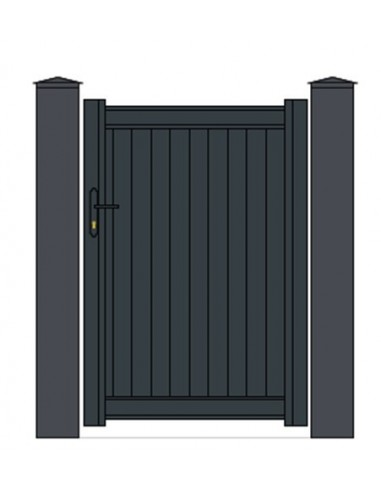 portillon aluminium plein droit mod le arcachon sur mesure. Black Bedroom Furniture Sets. Home Design Ideas