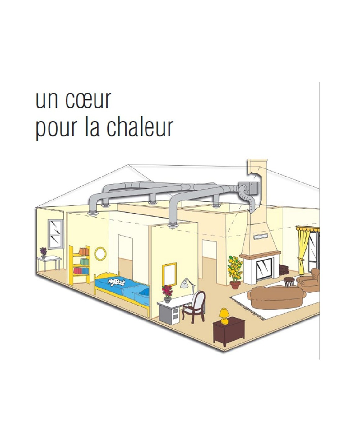 Comment poser un kit de distribution d 39 air chaud pour chemin e foyer fe - Distribution air chaud poele a bois ...