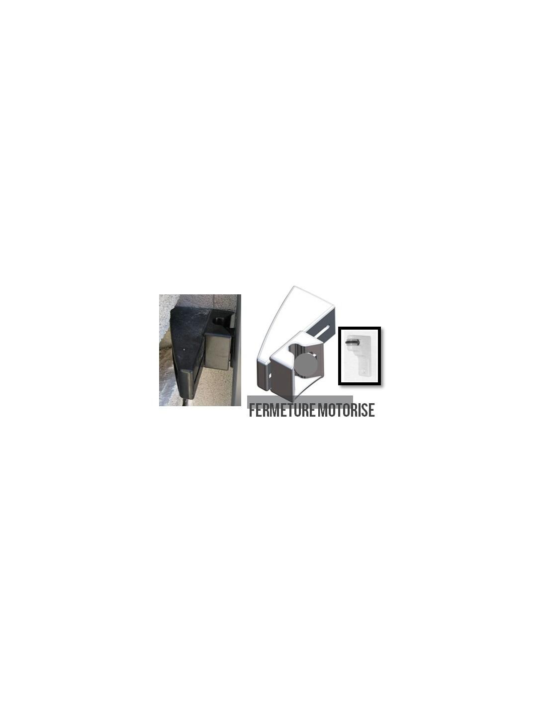 G che de portail coulissant noir fermeture automatique for Portail pvc noir