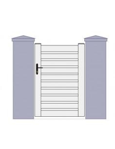 portillon pvc sur mesure chez portail cloture. Black Bedroom Furniture Sets. Home Design Ideas