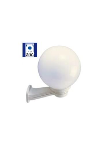 Lampe boule ext rieure 60w blanche aric 1704 for Applique boule exterieur