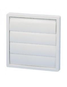grille d 39 a ration blanche 160mm volet pour s che linge ou vmc. Black Bedroom Furniture Sets. Home Design Ideas