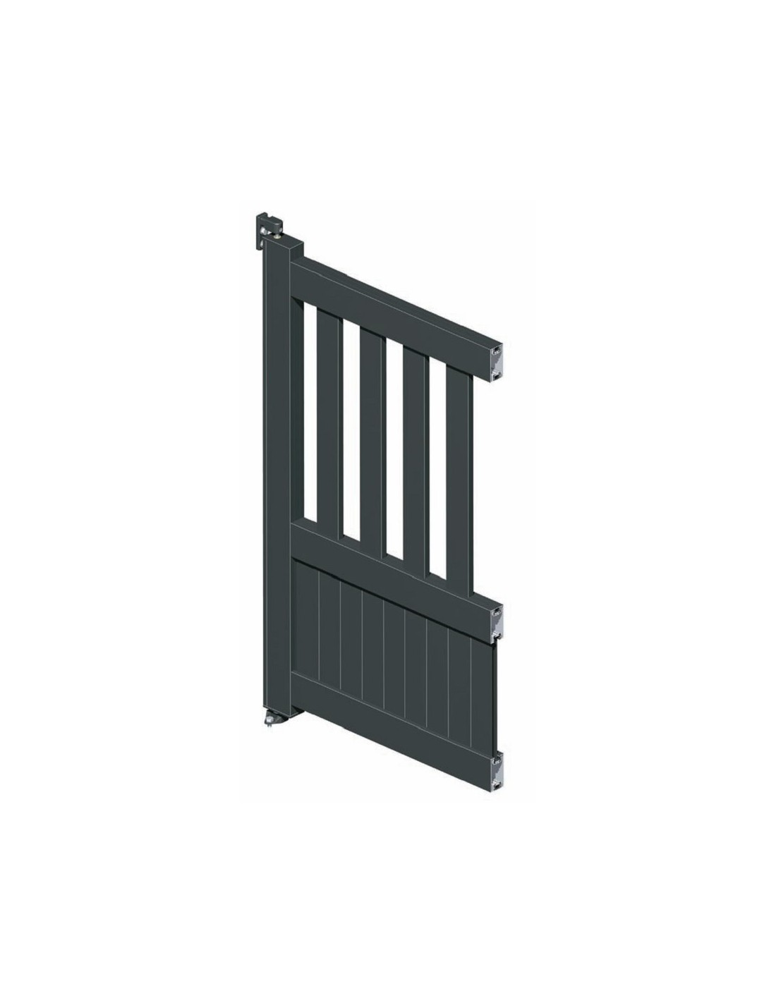 portail coulissant aluminium semi ajour droit technal l 3m70 5m00. Black Bedroom Furniture Sets. Home Design Ideas