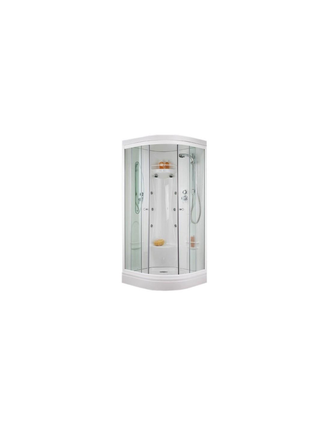 Cabine de douche porte coulissante hydro 1 4 de rond - Cabine de douche porte coulissante ...