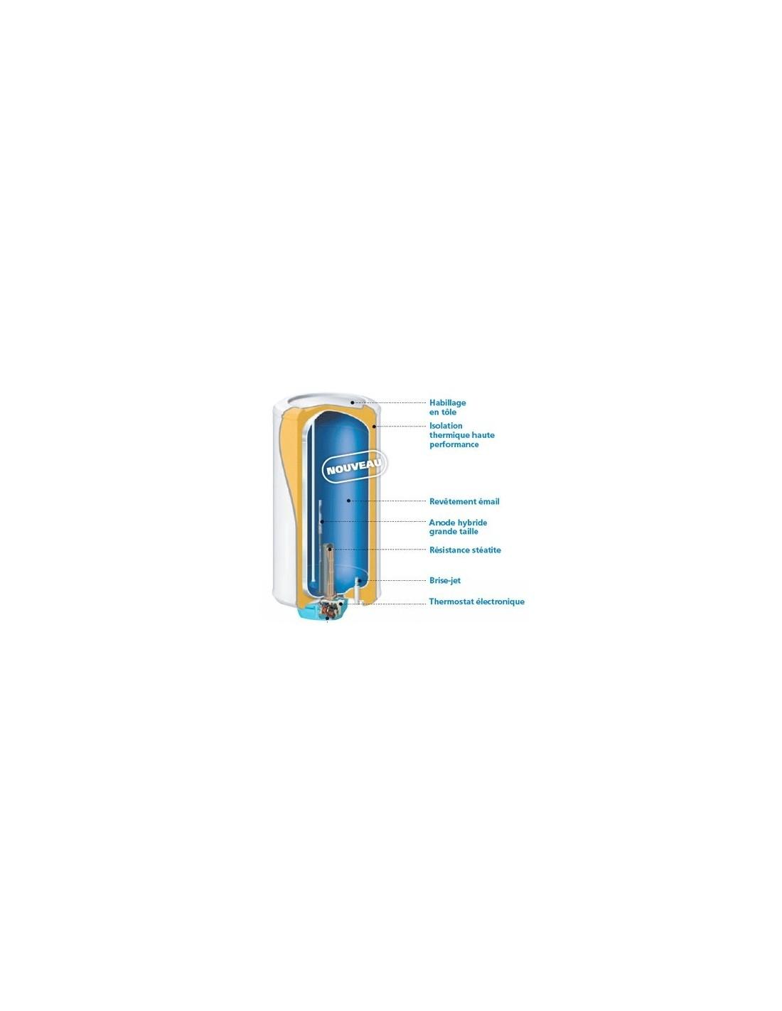 Chauffe eau 250l atlantic zeneo aci hybride sur socle 2200w - Alimentation chauffe eau ...