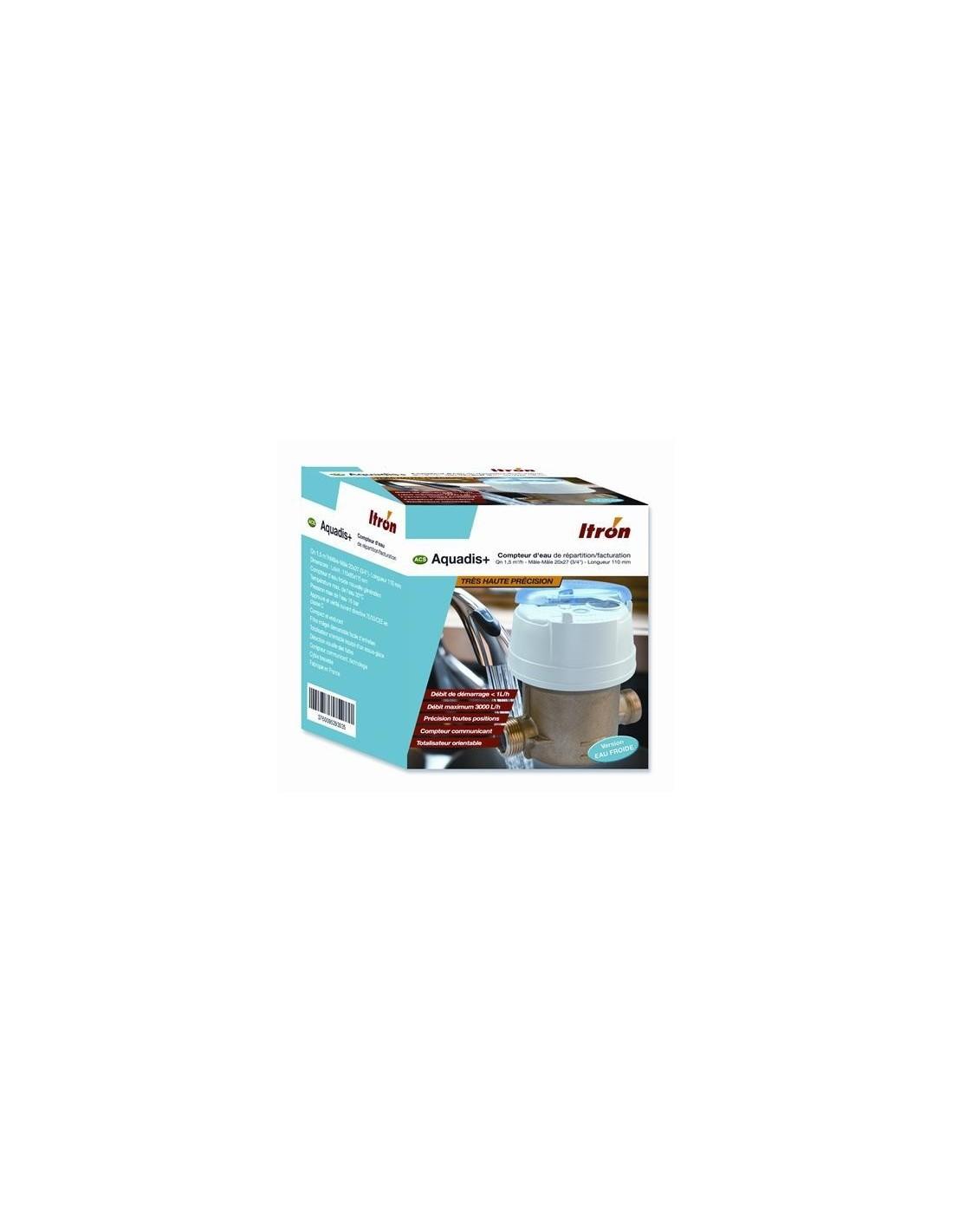 compteur d 39 eau froide 20x27mm aquadis. Black Bedroom Furniture Sets. Home Design Ideas