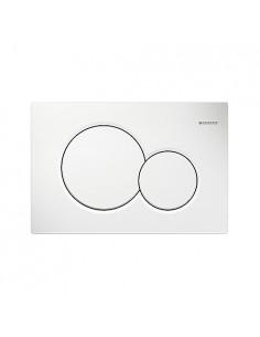 Plaque blanche chasse d'eau wc geberit up320