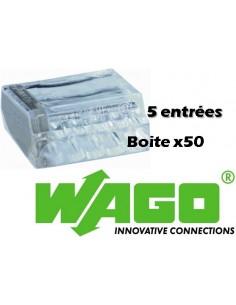 100 Wago 2 entrées, borne de connexion automatique tranparente