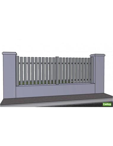 Clotûre aluminium droite ajourée
