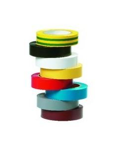 8 rubans d'electricien multicolores 15 mm x 10 m x 0,15 mm