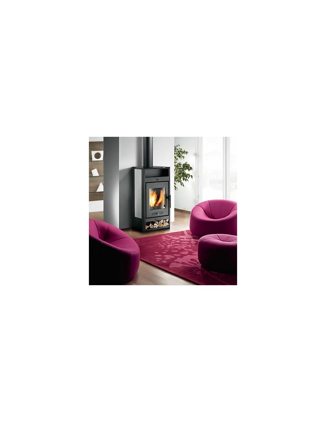 po le bois buches tilia gris de dietrich. Black Bedroom Furniture Sets. Home Design Ideas