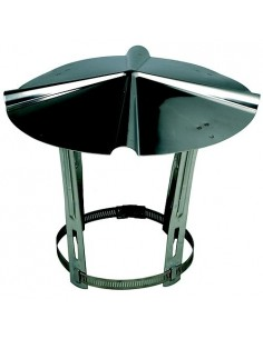 Chapeau inox chinois de toiture 80 à 111 mm
