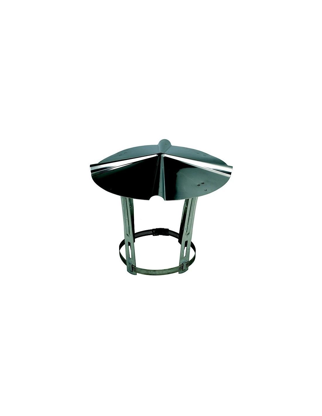 chapeau inox chinois de toiture 153 180 mm. Black Bedroom Furniture Sets. Home Design Ideas