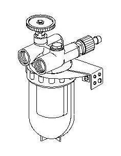"""Filtre à fuel 3/8""""FF D.C. avec cartouche filtrante"""