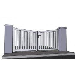 portail battant ajour. Black Bedroom Furniture Sets. Home Design Ideas