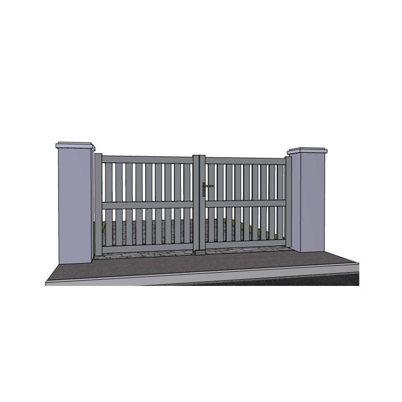 Portail aluminium battant ajour droit et traverse sur mesure for Portail 2m50