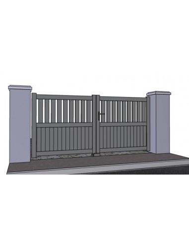 portail alu arcachon battant ajoure droit sur mesure. Black Bedroom Furniture Sets. Home Design Ideas