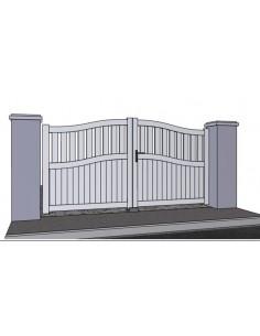 Portail battant alu semi ajour portail cloture 2 for Portail largeur 2m50