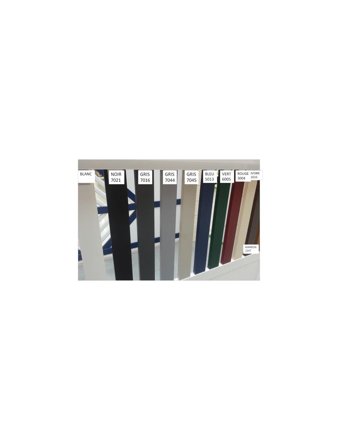 Portail alu bandol sur mesure semi ajour lames foug res for Portail exterieur sur mesure