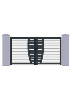 Portail aluminium semi ajouré horizontale sur mesure