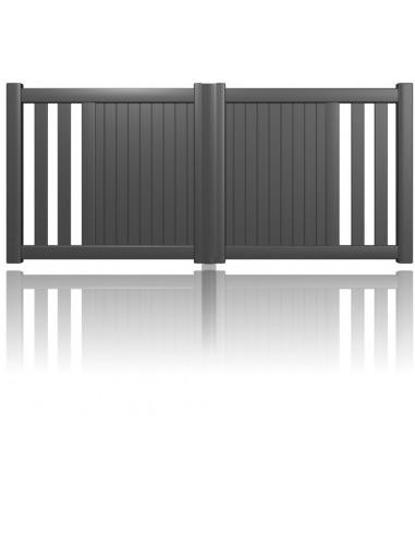 portail alu colmar sur mesure semi ajour lames foug res. Black Bedroom Furniture Sets. Home Design Ideas